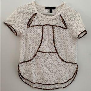 Beautiful white BCBG T-shirt top